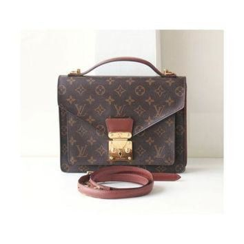 PEAPYD9 Louis Vuitton Bags, Monogram Monceau Authentic Vintage handbag