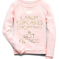 Cupcakes & Shopping Sweatshirt (Kids)