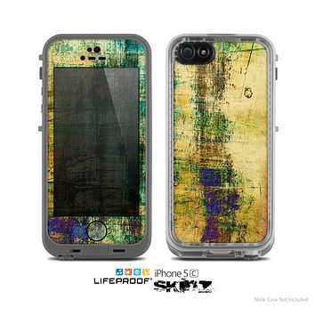 The Grungy Scratched Surface V3 Skin for the Apple iPhone 5c LifeProof Case