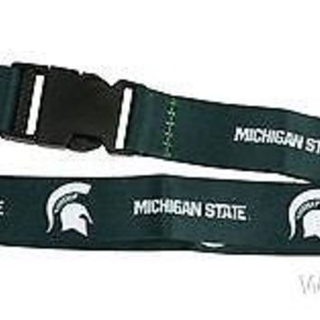 Michigan State Spartans 2-sided Premium Breakaway Lanyard Keychain University of