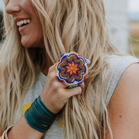 Oversized Boho Beaded Ring