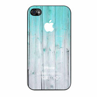 Wood Mint Apple iPhone 4 Case