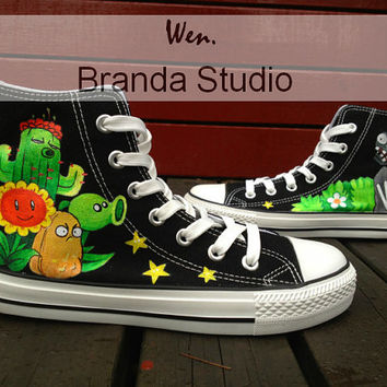 Zombies Shoes Design Studio Hand Painted Shoes 52.99Usd,Hand Paint On Custom Converse Shoes Only 85Usd Custom Zombies Converse Shoes