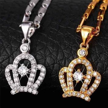 """ The Queen's Crown"" Necklace Pendant 
