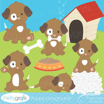 40% OFF SALE puppy dog clipart for scrapbooking, commercial use, vector graphics, digital clip art, images - PGCLPK528