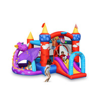 Bounceland Inflatable Dragon Quest Bounce House
