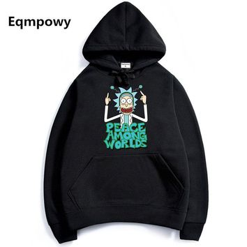 2017 Men/Woman Hip Hop Cool Rick Morty Hoodie Fashion Brand Clothing Character Sweatshirts Men Pullover Hoodies