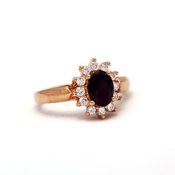Gold Filled Onyx Ring - Gemstone Jewelry - Onyx Jewelry - Royal Jewelry - Elegant Jewelry - Engagement Jewelry - Engagement Ring