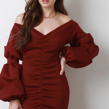 Bishop Sleeves Off Shoulder Dress | UrbanOG