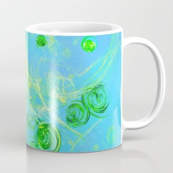 Summer Tree of Life - #Abstract #Art by Menega Sabidussi #society6 Mug by Menega Sabidussi