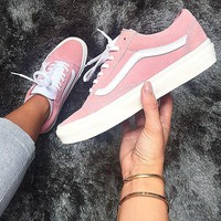 VANS Old Skool Suede Pink Sneakers