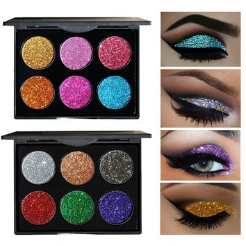 Diamond Golden Silver Color Brand Powder Glitter Eye Shadow Palette Brighten Eyeshadow Palette Makeup To Faced Cosmetics