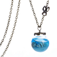 New glass hood ornaments bottle pendant necklace