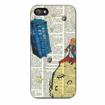 The Little Prince With Tardis On Dictionary iPhone 5/5s Case