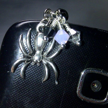 Spider Cell Phone Dust Plug Charm