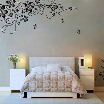 2016 New Wall Stickers Home Decor wall stickers Flowers and Vine Hee Grand Removable Vinyl adesivo de parede Mural Decal Art