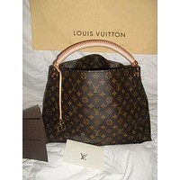 One-nice™ LV Louis Vuitton Women Shopping Bag Leather Tote Handbag Satchel Bag