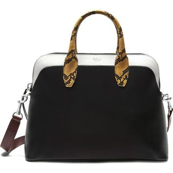 Mulberry Colville Leather Satchel with Genuine Snakeskin Trim | Nordstrom