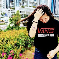 VANS Woman Men Fashion Casual Print Shirt Top Tee