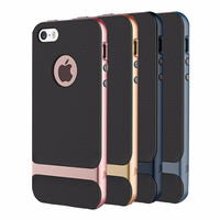 Rock Royce Series for iPhone 7 / 6 Plus & 6s Plus / 6 & 6s / SE & 5s & 5 Business Style TPU + PC Protective Case