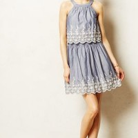 Venia Dress by Anthropologie Navy