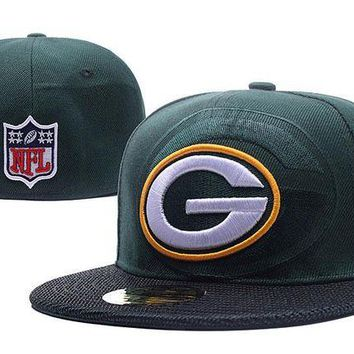 LMF8KY Green Bay Packers New Era 59FIFTY NFL Football Hats