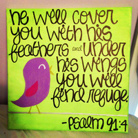 Psalm 914 Canvas Painting by TheEsperanzaShoppe on Etsy