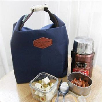 Picnic Insulated Lunch Bag Large Built Box Container Cooler Thermal Waterproof Tote Lunchbox