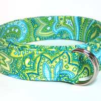 Dring Belt Womens Fabric Ribbon Belt  Lime by FashionablyLauren