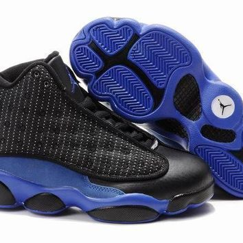 Nike Jordan Kids Air Jordan 13 Retro Black/royal Blue Color Kids Sneaker Shoe Us 11c 3y