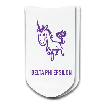 Delta Phi Epsilon - Sorority Icon No-Show Socks