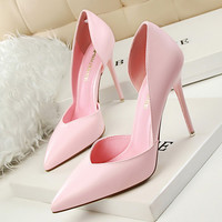 Women Pumps Summer High Heels Black Pink Yellow Shoes Women bridal Wedding Shoes Ladies