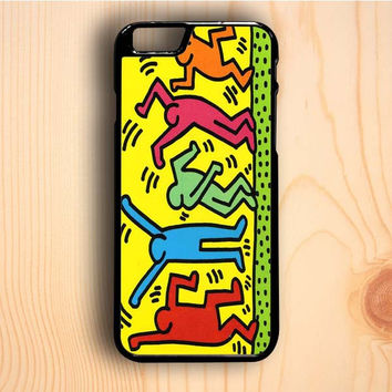 Dream colorful Keith Haring Pop Art iPhone 6 Plus Case