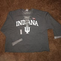College Crewneck Lace Up Sweatshirt Indiana University