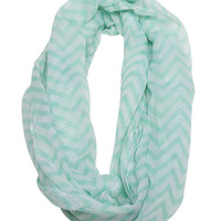 Chevron Eternity Scarf - WetSeal