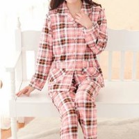Comfort Zone Vintage Flannel Pajama Set in Pink | Sincerely Sweet Boutique