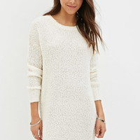 Dropped-Sleeve Sweater Dress