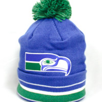 Seattle Seahawks Beanie (Blue/Green)