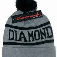 Diamond Supply Co Beanie Hats (Gray and Black)