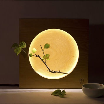 Wood Moon Led Desk Lamp
