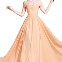 New Off Shoulder Evening Dress Prom Ball Gown(C00090701)