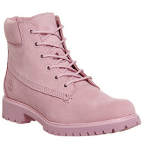 Timberland Slim Premium 6 Inch Boots Pink Nubuck Exclusive - Ankle Boots