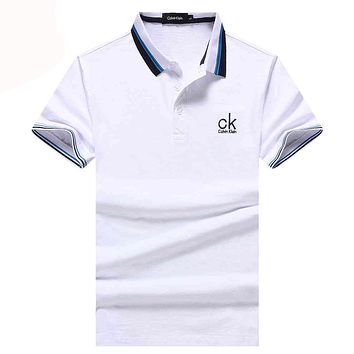 Calvin Klein  Men Fashion Casual Letter Shirt Top Tee