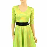 "Lime ""Buttercup"" Skater Dress"