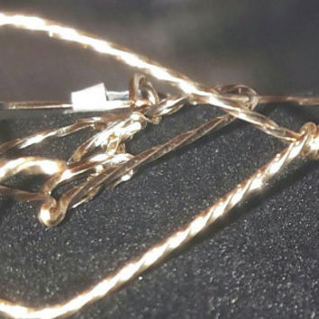 I Love You Heart wire wrapped bracelet. Perfect Valentines Gift