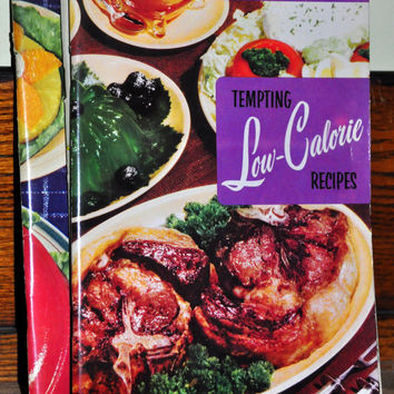 "Collectible Cookbook. ""Tempting Low-Calorie Recipes"" Issue 123 by Culinary Arts Institute. 1950s Recipe Booklet."