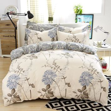 Home Flowers Jacquard Style Pure Cotton Retro Bedding Sets Twin/Full/Queen/King Size 3pcs
