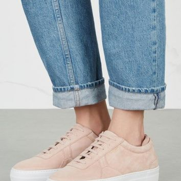 Axel Arigato Rose suede flatform trainers