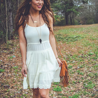 Feeling Free Sundress in Cream
