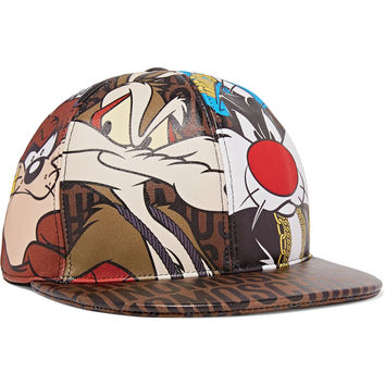 Printed leather cap | Moschino | US | THE OUTNET